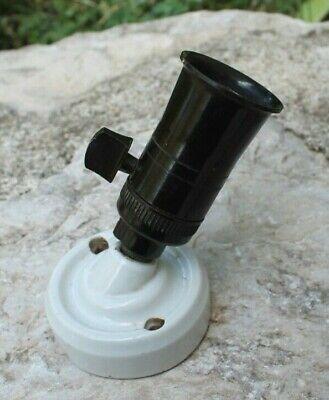 1 ancienne douille interrupteur en bakélite B22 pas français 10,85 mm réf Z97