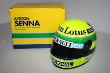 F1 MINI HELMET 1/2 CASQUE AYRTON SENNA LOTUS RENAULT 1985
