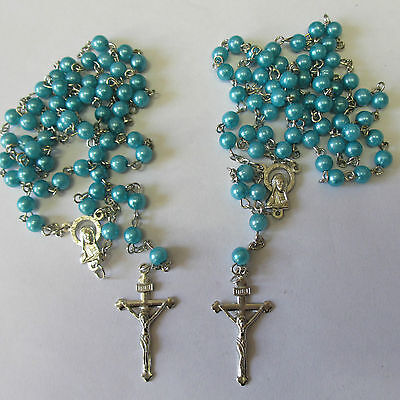 Wholesale Job Lots 6 x Lovely Rosary Beads Necklaces Or Bracelets SP Crucifix