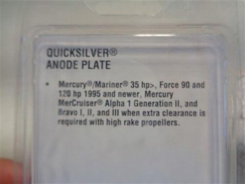MERCURY QUICKSILVER 76214Q 5 ANODE PLATE MARINE BOAT