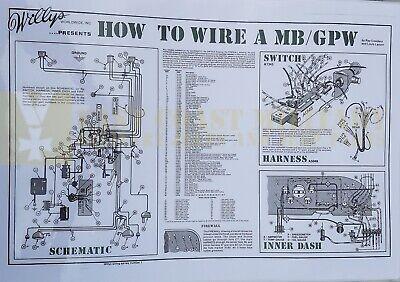 WILLYS MB FORD GPW JEEP WIRING DIAGRAM | eBay
