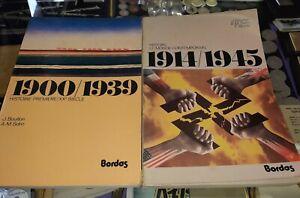 Historie-premiere-1900-1939-amp-1914-1945-french-language-books
