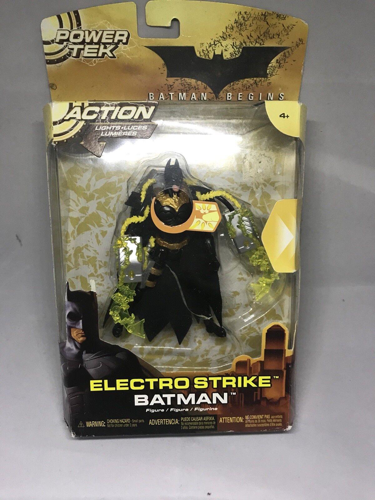 Batman Begins Electro Strike Batman 5.5 in Action Figure Power Tek Mattel 2005