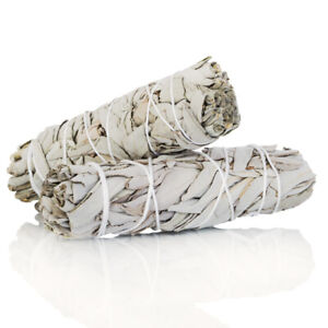 White-Sage-Smudge-Stick-4-034-5-034-2-pack-Herb-House-Cleansing-Negativity-Removal