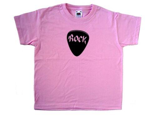 Rock Plectrum Pick Music Pink Kids T-Shirt