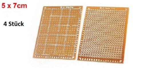 Universal M02-4 Stück PCB Platiene  5 x 7 cm Leiterplatten