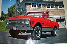 1970 Chevrolet K5 Blazer Pickup truck print (red, no top)