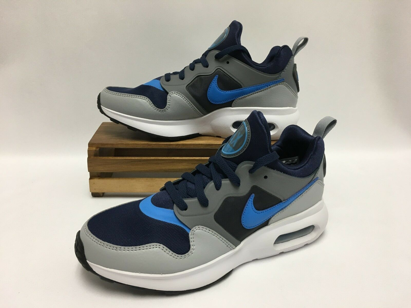 Nike Air Max Prime Shoes Binary Blue Gray White 876068-400 Men's NEW Wild casual shoes