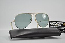 Vintage B&L USA Ray Ban Sunglasses Gold Aviator 62-14 with Gray Lenses