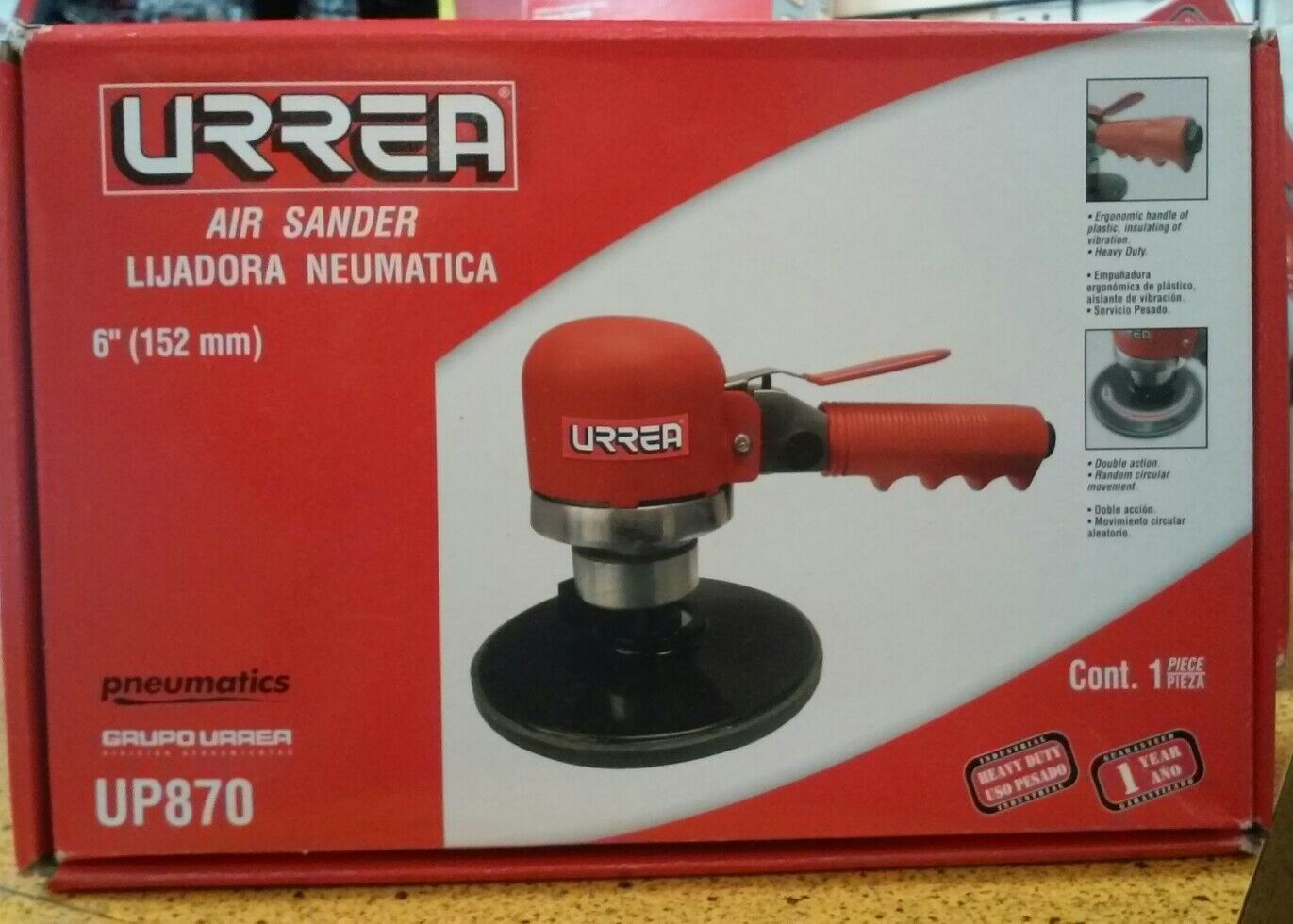 Urrea UP870 6-Inch Random Dual Action Sander