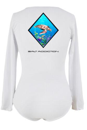 Salt Addiction life Women/'s long sleeve microfiber Saltwater fishing t shirt