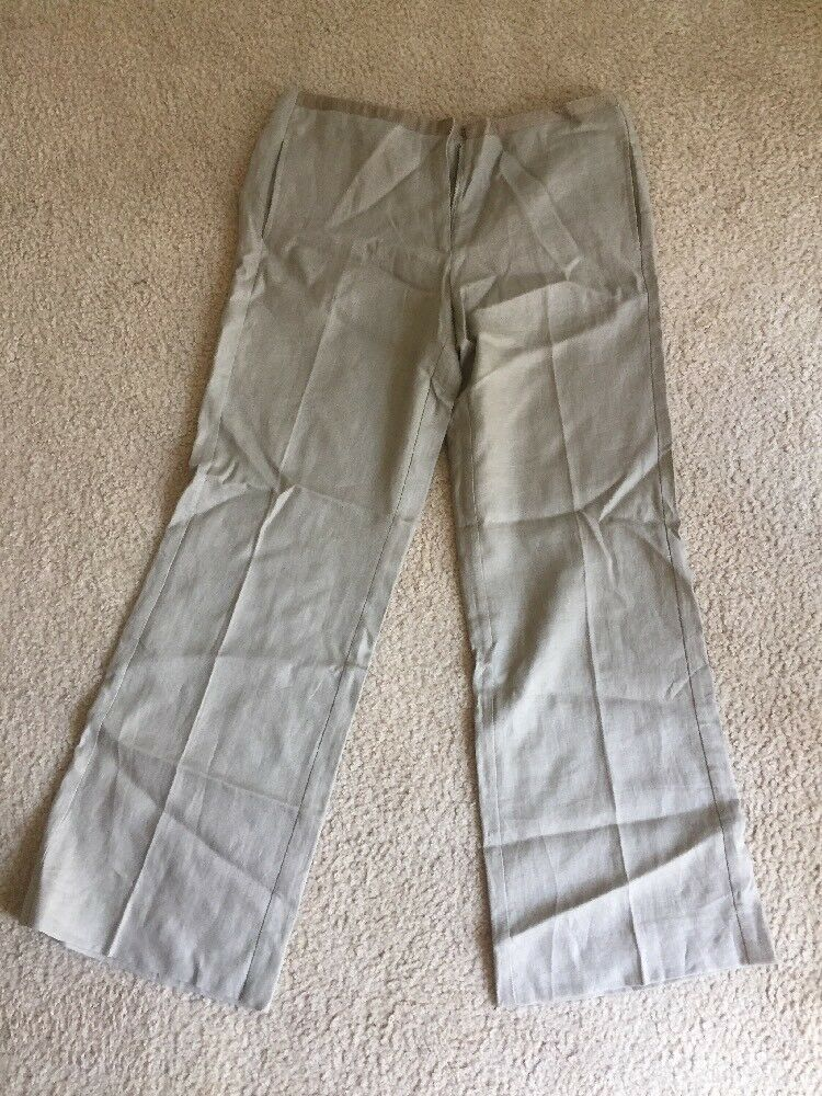 Tory Burch Beige Linen Womens Pants Size 8