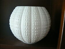 matt white OP ART porcelain Vase Hutschenreuther ball Vase Porzellan  70er