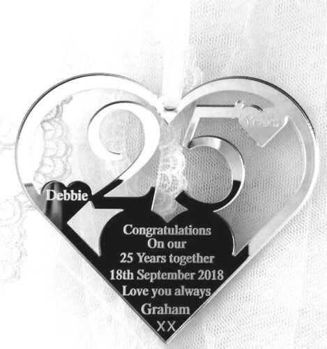 PERSONALISED 25 YEARS MAN TO WIFE OUR SILVER WEDDING ANNIVERSARY KEEPSAKE GIFT