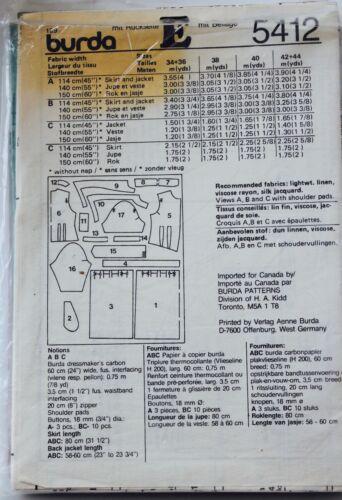 Vtg BURDA SKIRT JACKET TOP Sew Pattern ~ Misses /& Plus Sizes 6-44 UC U PICK