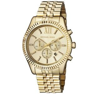 New michael kors lexington gold stainless steel chronograph mk8281 image is loading new michael kors lexington gold stainless steel chronograph gumiabroncs Image collections