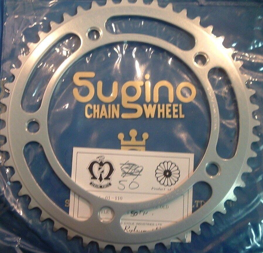 Sugino Track 50Tx151BCD 1 2 x1 8  Sprocket Silber - NEW   NOS Vintage- NIB