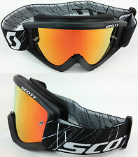 Scott Recoil XI Motocross MX Gafas Negro Con Lente De Espejo Rojo Goggle-Shop