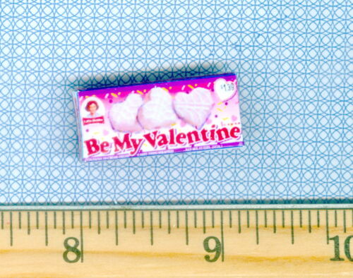 DOLLHOUSE MINIATURES  Vanilla Valentine Snack Cakes Box
