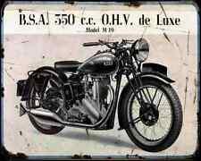 Bsa M19 01 A4 Metal Sign Motorbike Vintage Aged