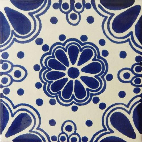 9 TILES Ceramic MEXICAN Talavera  Handmade  C042