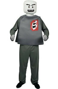 Lego Man Halloween Costume.Details About Adult Zombie Block Head Lego Minifigure Mens Halloween Costume