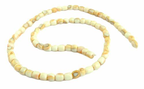 5 mm abalorios Strang muat Mosaikmuschel perlas laminado aprox 1