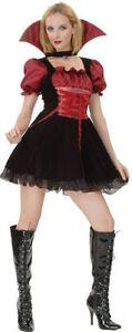 Hell Vampire Mistress Adult Lady Halloween Fancy Dress Costume