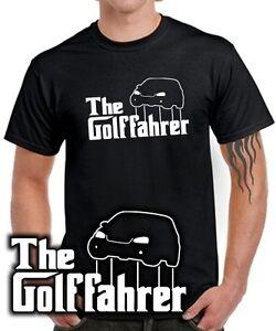 Fun-T-SHIRT-THE-GOLFFAHRER-MK5-Golf-5er-VW-Tuning-Gti-RETRO-5-der-Pate-Satire