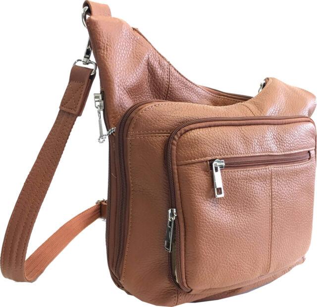 Leather Locking Concealment Purse CCW Concealed Carry Gun Handbag CWP