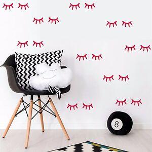 Yeux-autocollants-muraux-Decor-Sleepy-Set-24-Art-Amovible-Maison-Modele-Autocollant-Vinyle