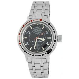 Vostok-Amphibian-420526-Watch-Military-Russian-Diver-Black-New