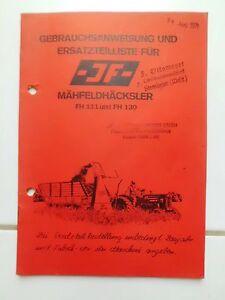 JF-Maehfeldhaecksler-FH-111-FH-130-Ersatzteilliste-Gebrauchsanweisung