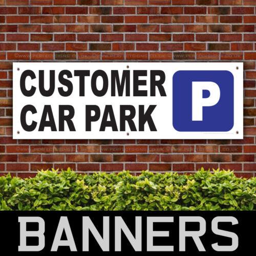BANPN00231 Customer Car Park PVC Banner Printing Advertising Parking Sign