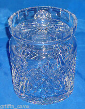 WATERFORD Crystal - Biscuit Barrel Made in Irealnd Old Back Stamp