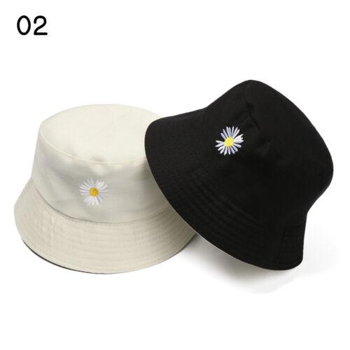 Men Women Daisies Double-Sided Bucket Hat Summer Outdoor Fisherman Camping Hats