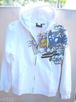 Authentic Billabong Hooded Mens Regular Fit Fleece Jacket Size S White