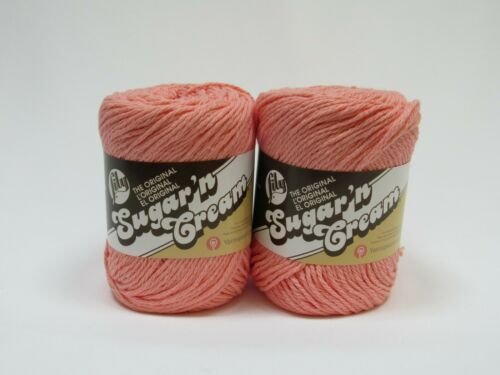 2 Skeins In Tea Rose Lily Sugar /'n Cream 100/% Cotton Yarn 2.5 ounce skeins