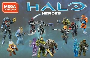Mega-Construx-Halo-Infinite-Heroes-Series-12-amp-other-characters-Master-Chief-etc