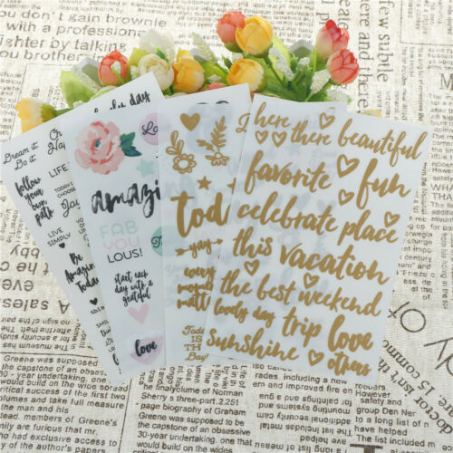 4x lovely day rub on set for scrapbooking diy photo album//card making crafts JR