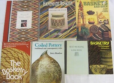 Verstandig Seat Weaving Handmade Twine Basketry Coiled Pottery Book Lot Of 7 Superieure (In) Kwaliteit