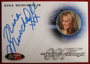 JAMES-BOND-The-World-Is-Not-Enough-NINA-MUSCHALLIK-VERUSHKA-Autograph-Card