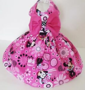 DOG-DRESS-HARNESS-WITH-D-RING-Minnie-Mouse-pink-NEW-FREE-SHIPPING