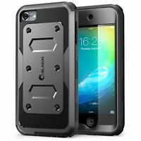 Ipod Touch 5/6 Case Itouch 6th Gen Cover Screen Protector Hard Shockproof Black