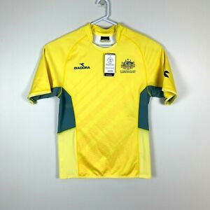 Australia-Commonwealth-Games-2014-Glasgow-Diadora-Rugby-Jersey-Size-Men-039-s-Large
