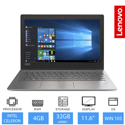 "Lenovo Ideapad 120S 11.6"" Light Weight Laptop Intel Dual Core, 4GB, 32GB eMMC"