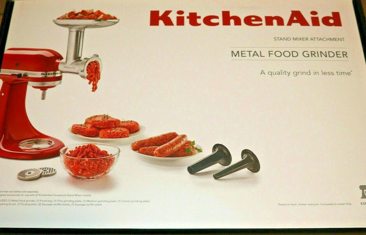 Genuine KitchenAid ksmmga Metal Food grinder Attachment (10 Pcs)