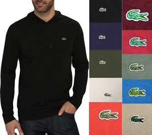 Lacoste-Men-Fashion-Casual-Lightweight-Jersey-Pullover-Hoodie-Sweater-Top-Shirt