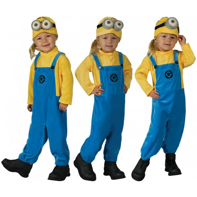 Minion Costume Despicable Me Halloween Fancy Dress  sc 1 st  eBay & Despicable Me 3 Minion Jerry Toddler Costume X-small | eBay