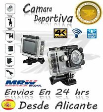 Video Camara Deportiva 4K Ultra HD Action Camera Wifi LCD Similar GoPro Negro